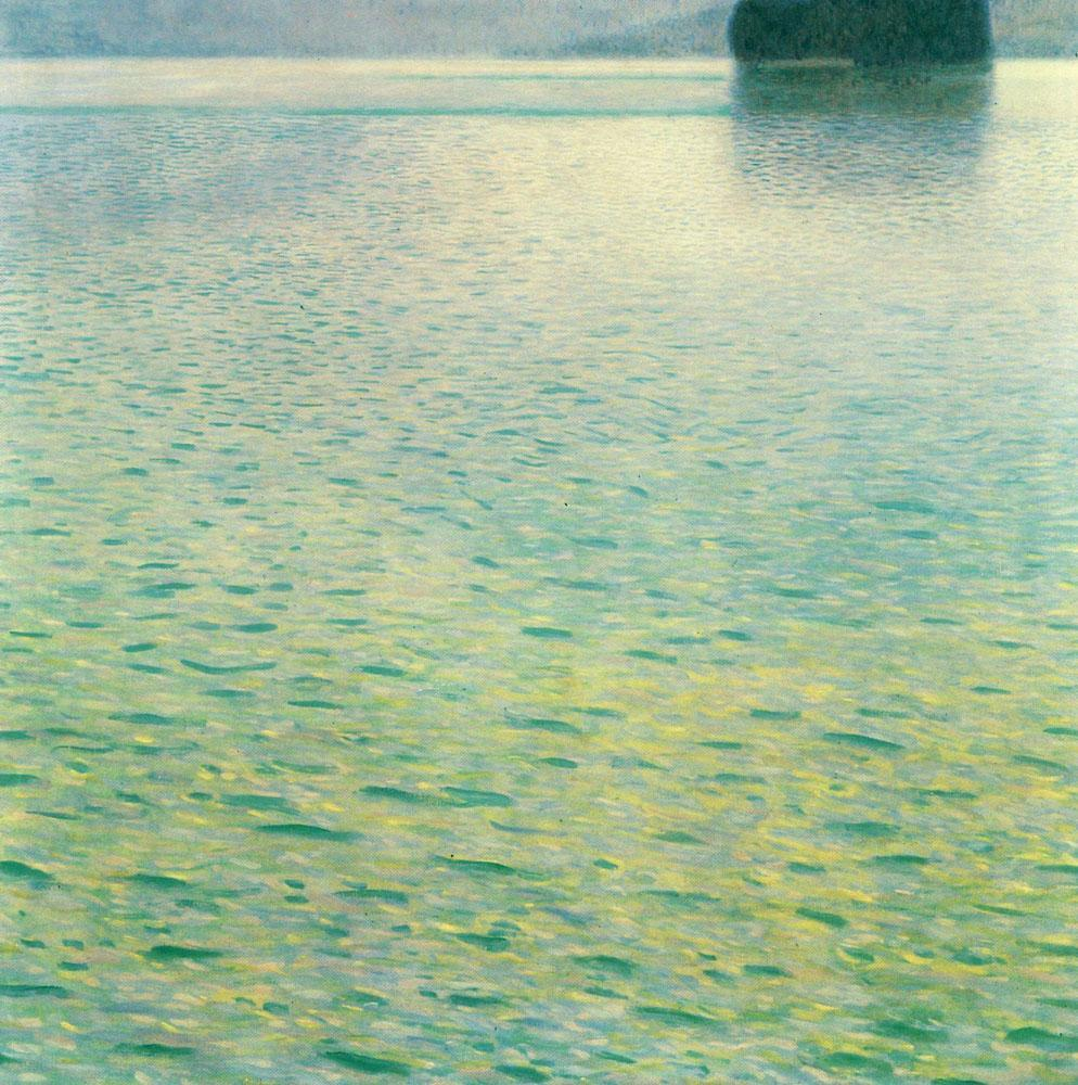 Island in the attersee, 1902, Gustav Klimt