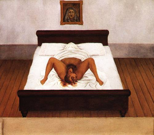 frida kahlo - my birth (1932)