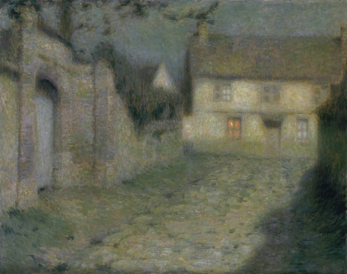 Moonlight at Gerberoy,1904 Henri Le Sidaner à Gerberoy Detail