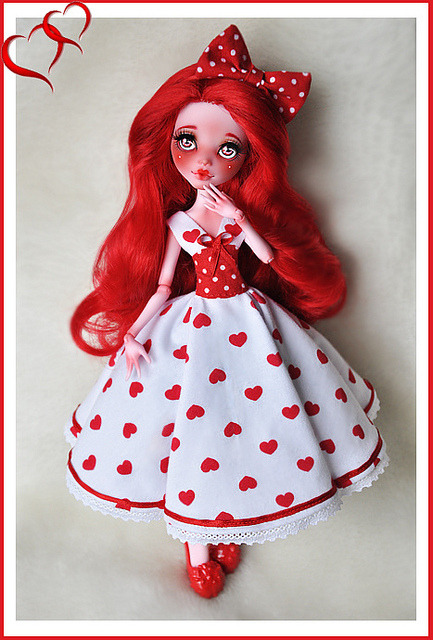 """My Creepy Valentine"" Draculaura finished! by Clockwork_Angel on Flickr."