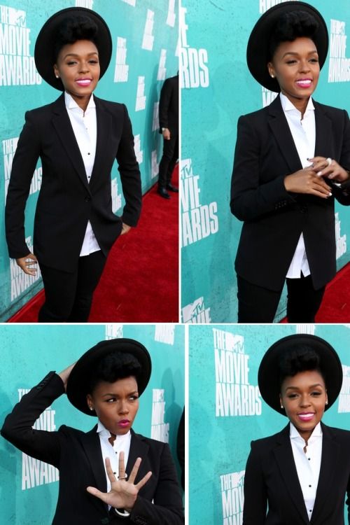 naturalbelle:  Janelle monae @ the mtv movie awards http://hairspiration.blogspot.co.uk/