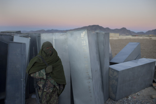 An Afghan National Army at an American base in Wardak. Photo: Joel van Houdt The war in Afghanistan is not over. Help us tell the story. Fund our Kickstarter.