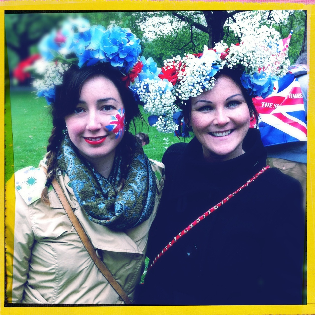 Hair wreaths for the Diamond Jubilee!