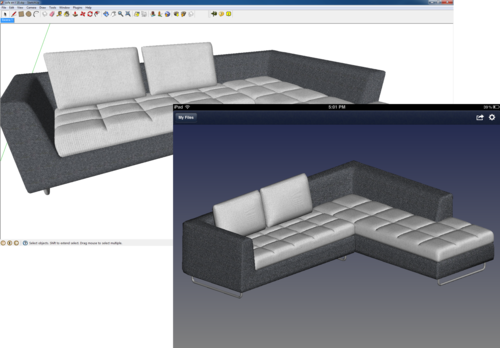 View SketchUp models on ipad, iPhone & Android smartphones and tablets