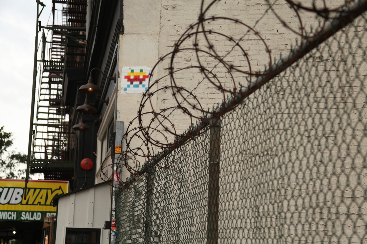 Raindow Invader on the Bowery.
