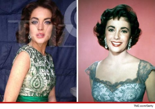 "imwithkanye:  First Look: Lindsay Lohan as Elizabeth Taylor.  There is not enough ""NO"" in the world."