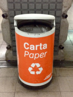 Also underground we could make the separate collection of rubbish! … Paper!
