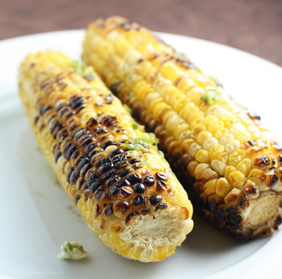 Grilled Corn with Jalapeno Butter
