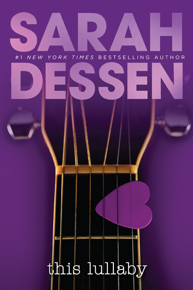 This is my favorite of the new Sarah Dessen covers.  Possibly because it reminds me of my guitar slide, which is purple and shaped like a heart.  (Coolest slide ever.)