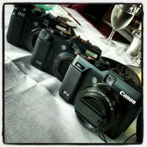 The Canon Family #G11 #G12 #G1X (Taken with instagram)