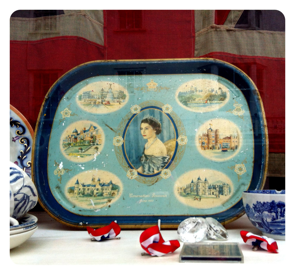 Our favourite pick of vintage royal fare. I found this lovely tray in a little old charity shop, and feel very happy with myself as I never normally manage me to find anything. Will have to have vintage queens EastLondonStyle & TigersBride round and serve afternoon tea on it!