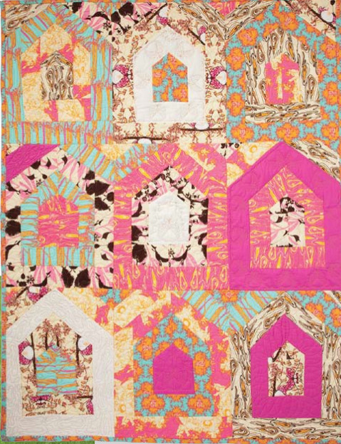 Birdhouse Rock Quilt by Tina Givens.