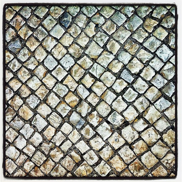 The cobbled streets of #lisbon  (Taken with instagram)
