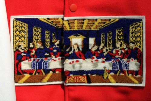 The Last Supper on a varsity jacket by Facetasm