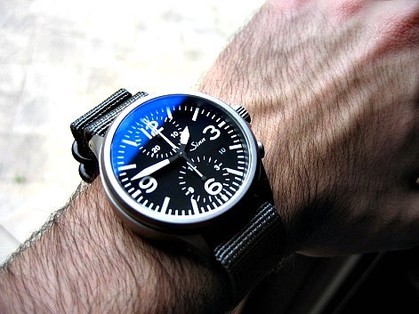 The #Sinn 756 Special Case Is Developed With Tegiment Technology Which Raises The Hardness Level Of The Base Material Exponentially - #Explore watchanish:  Sinn City The 756 Chronograph