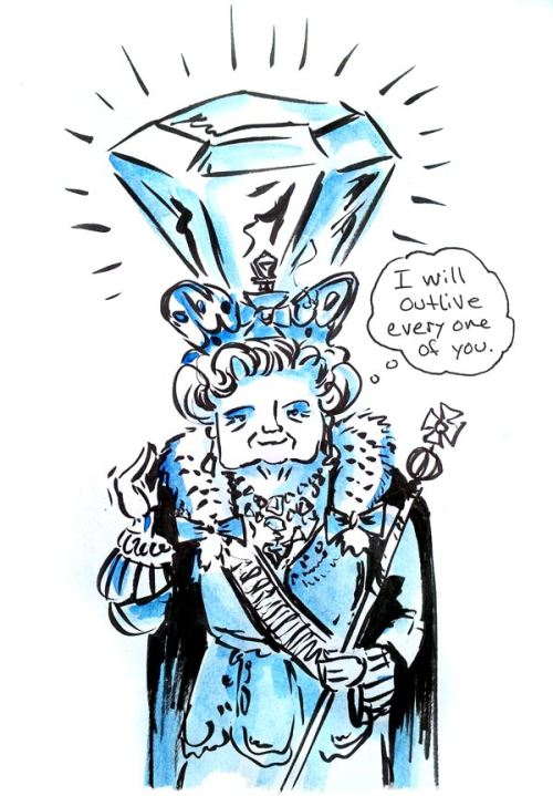 In honor of Her Royal Majesty's Diamond Jubilee, (which, we can all agree is the ONLY important thing in the world right now) I'm already looking forward to Platinum milestone. Watch out, Victoria. Liz is coming for your record.