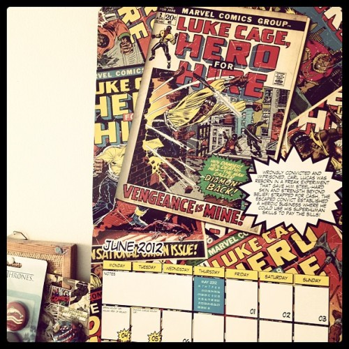 Marvel retro calendar poster boy for June: Luke Cage (Taken with instagram)
