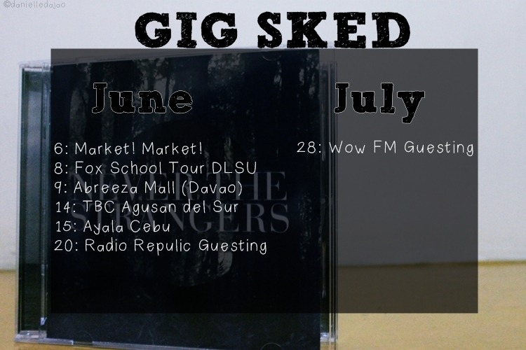 Hello, guys! Never The Strangers' June-July Gig Schedule. Reblog to all my Never The Strangers Fans followers :) Spread the news. See you iin Market! Market! :)