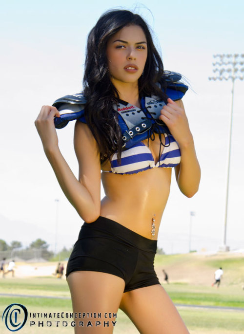 Project 52 - Week 19 - Sports Series - Football Model1: Mia Cazares Model2: Victoria DeSimone
