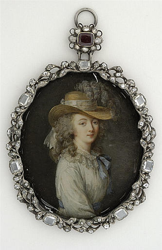 miniature Portrait of the Comtesse du Barry Lavreince; (inspired by Louise Élisabeth Vigée Le Brun ) Second half of the 18th century Paris, the Louvre, Department of Graphic Arts