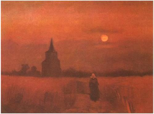 momdressedmethismorning: Sfumato poboh: The Old Tower in the Fields, Vincent van Gogh.