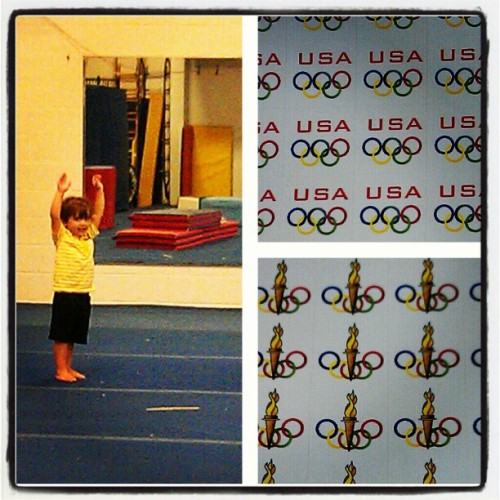 #Olympic day for Vincent at #gymnastics class! #Olympics #DominiqueMoceanu  (Taken with instagram)