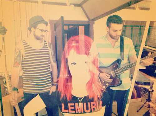 istillloveparamore:  fueledbyramen:  Over the weekend, Paramore entered the studio to start work on their new album and set up an Instagram to chronicle their progress. Follow @paramorestudio on Instagram for photos directly from the band as they work with Justin Meldal-Johnsen on their fourth album. After all, you only make a 4th album once….  god bless america