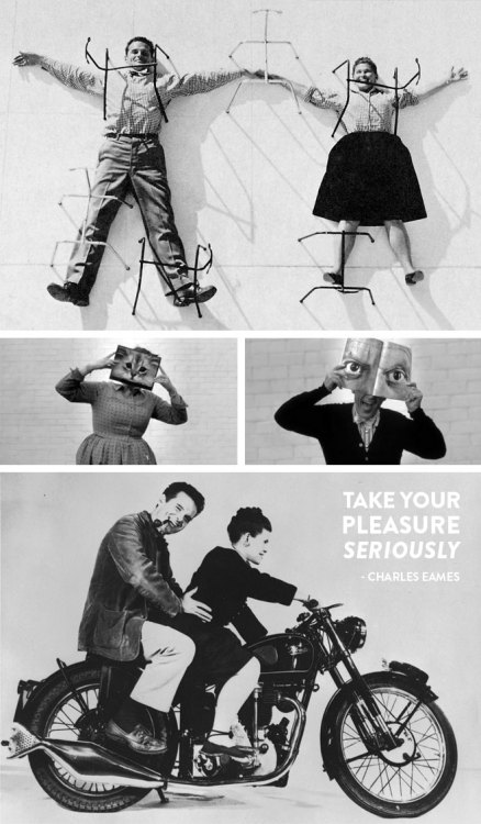 fab:  Take your pleasure seriously —Charles Eames Visit Miss Moss for a collection of truly delightful photographs and tidbits about the architect and painter who changed the face of modern design.  eames love