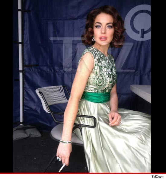 First Look: Lindsay Lohan as Elizabeth Taylor for Liz & Dick biopic