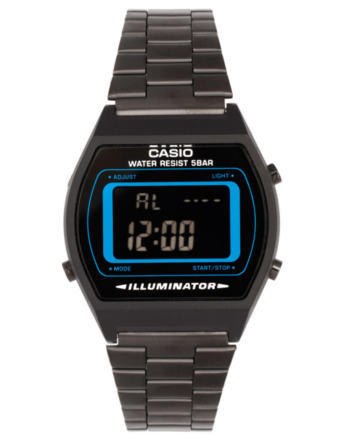 Casio B640WB-BLUE Digital Black Stainless Steel WatchMore photos & another fashion brands: bit.ly/JgOz1B