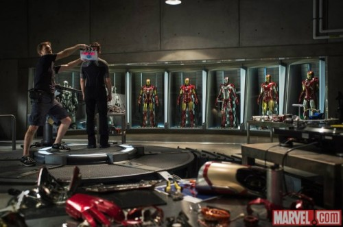 "shortformblog:  ""Iron Man 3"": Here's the first Robert Downey Jr. on-set photo The photo appeared on Tony Stark's new, and still unverified, Twitter account a short time ago. While few details have emerged, as far as the plot is concerned, we do know that Disney and Marvel hope to have the film in theaters by next summer. On a side note, ""The Avengers"" became the biggest superhero movie of all time over the weekend. (thanks to Ta-Nehisi Coates for the tip) source Follow ShortFormBlog: Tumblr, Twitter, Facebook"