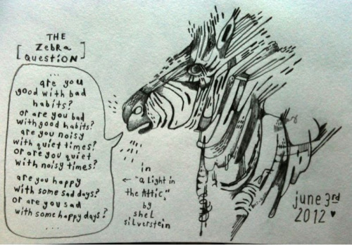 Never ask a zebra if it's black with white stripes or white with black stripes, it's a touchy subject..