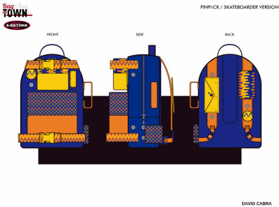 PINPɅCK PROJECT Hi!! I'm participating in the design of a backpack for EASTPAK, it is a great opportunity to see my design  translated into a real product along with a very cool brand. If you want to support my concept is easy. 1. Enter this link; 2.CLICK ON THE FIVE STARS (upper left corner); 3. Click on the FB Like. Thank you all!!!
