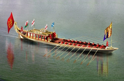 The new Royal Barge, Gloriana, took part in the Thames Pageant for the Diamond Jubilee of Queen Elizabeth II