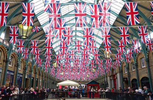Covent Garden looking impressive for the Queen's Diamond Jubilee