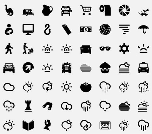 "weandthecolor:  The Noun Project - Icon Collection I recently came across this website called ""The Noun Project"". The site collects and organizes a mass of different symbols, created by different graphic designers and illustrators. You can submit your own design works to the collection and for sure you are able to download every single icon. via: WE AND THE COLORFacebook // Twitter // Google+ // Pinterest  What an awesome resource!"