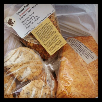 Baked goods from Lukas Bakery in La Grange, TX (Taken with instagram)