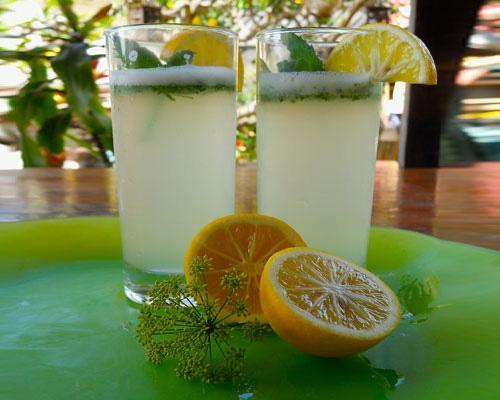 Recipe: Minty Lemon-celloLemon-cello is the lovechild of two classic recipes, real lemonade and Limoncello. Swapping simple syrup for granulated sugar ensures this marvel of citrus will be sweet and tangy from the top of the rim to the bottom of the glass.