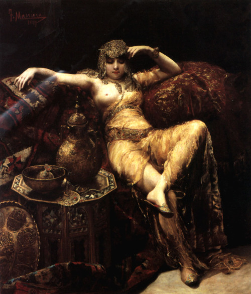 deadpaint:  Francisco Masriera, A Harem Beauty.