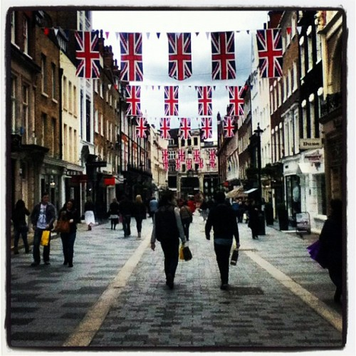 South Molton Street itself - looking fab for the jubilee celebrations! #London (Taken with instagram)
