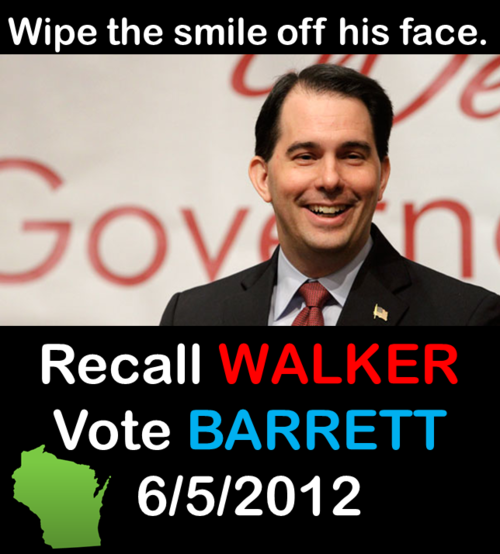 Walker recall election Tuesday:you can help! This is a race that will come down to turnout — The final Public Policy Polling count ahead of tomorrow's recall election shows a slight Walker lead in a race that's tightening up in the final hours. […] If the folks who turn out on Tuesday actually matched the 2008 electorate, Barrett would be ahead of Walker by a 50-49 margin. It's cliche but this is a race that really is going to completely come down to turnout. Needless to say, if you'd like to help out with turning out the vote, you can help out with phone banking here. Today's the day we need you to help. It's crunch time, and you can make calls from your own home. It's easy and simple. This race is winnable, folks. Fire Walker with me. — Balloon Juice