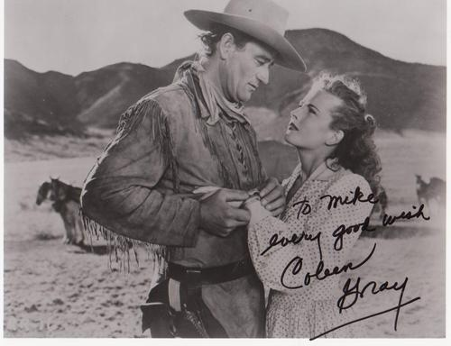 Production still from Red River autographed by Colleen Gray