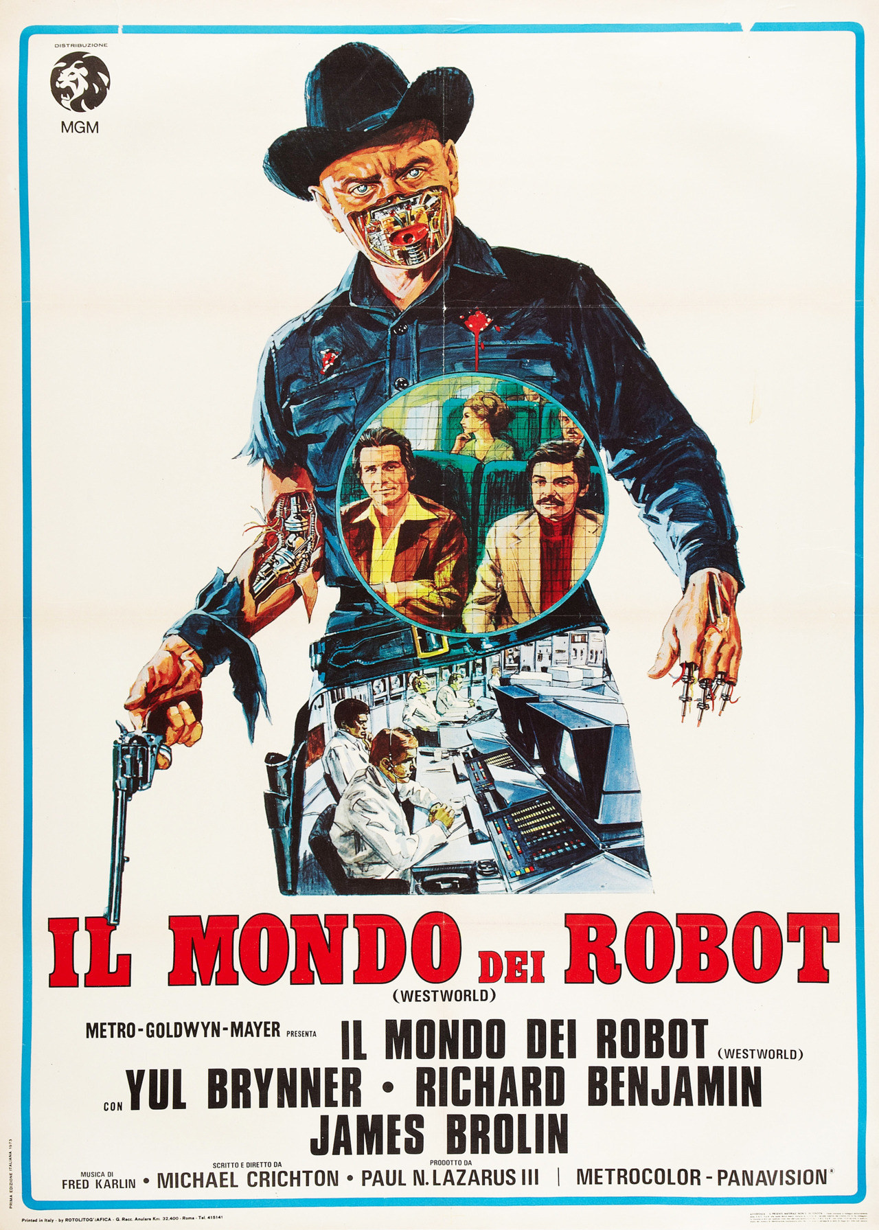 "valentinovamp:  ""Westworld"" Italian movie poster."