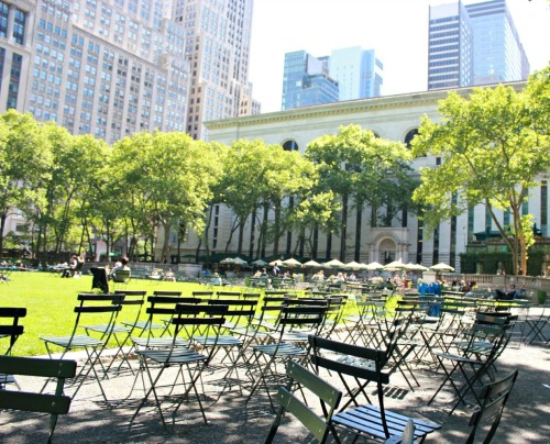 """The best parks in the world are in New York City""Bryant Park"