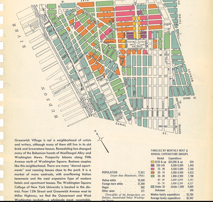 "In 1940, You Could Rent a Manhattan Apartment For $30  CUNY's Center for Urban Research launched a project entitled Welcome to 1940s New York today—a look socioeconomic climate of the city in the 1940s, or more simply, a look at how relatively cheap renting was way back when. […] Take a look at what CUNY's Urban Research team unearthed about Manhattan's West Village which was pitched as ""not a neighborhood for artists and writers"" (mind you, rents there are now $3,000 and up). Read more at The Atlantic Wire. [Image: CUNY Center for Urban Research]"