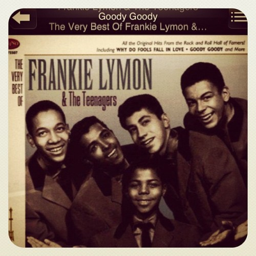 Cooking breakfast to the Frankie Lymon & the teenagers always ❤  (Taken with instagram)