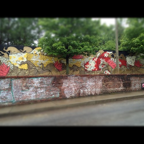 Koi #atl #streetart #graffiti #roadtrip #art  (Taken with instagram)