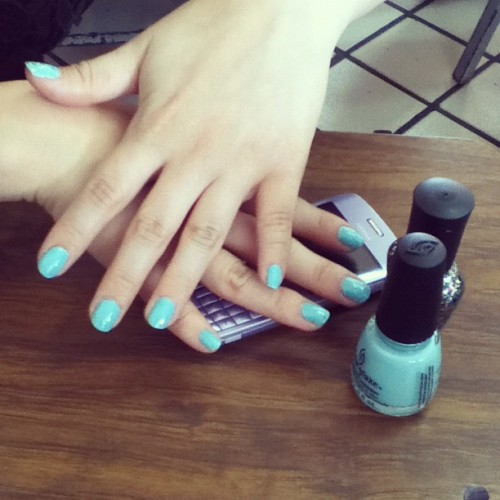Nails turquesa (Tomada con instagram)