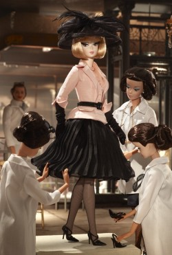theradofthefag:  Oh, who said dolls can't use personal couture? Definitely Barbie® is the ultimate rich b-tch man. Afternon Suit Barbie® Doll $85USD Available on BARBIECOLLECTORS.COM D.R.