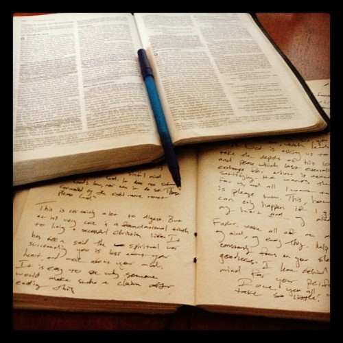 Reading Romans 8 this morning. So powerful! (Taken with instagram)
